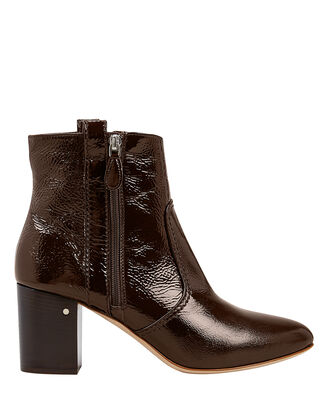 Silane Patent Leather Booties, GREY, hi-res