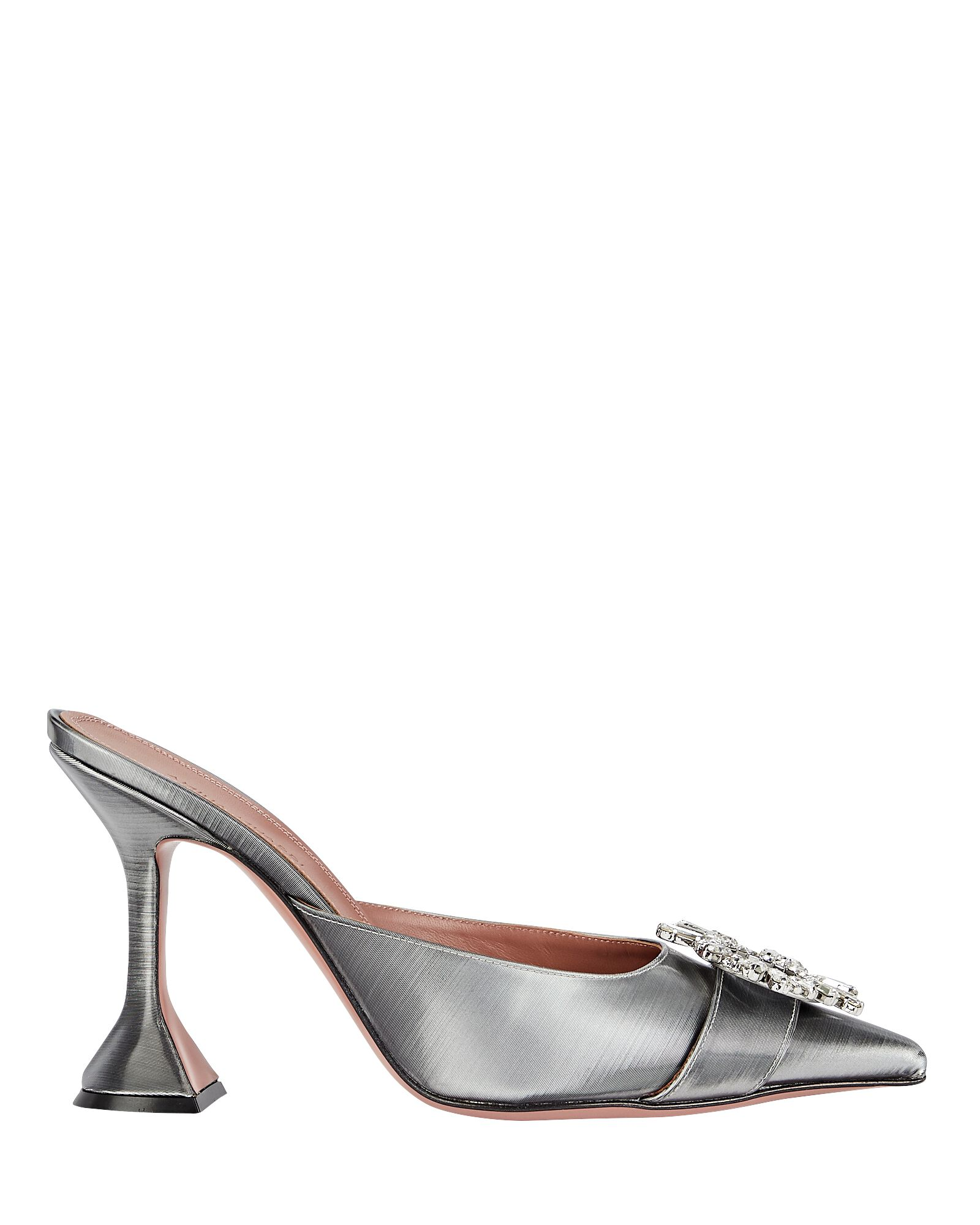Begum Satin Mules, GREY, hi-res