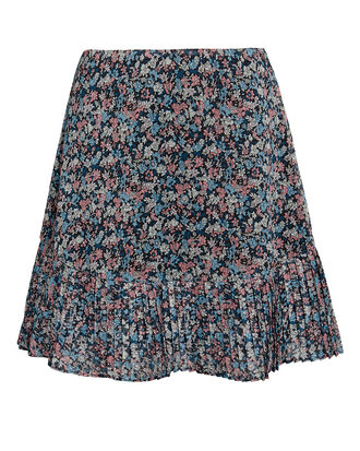 Cece Mini Skirt, dark floral, hi-res