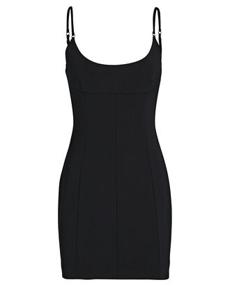Crepe Mini Dress, , hi-res