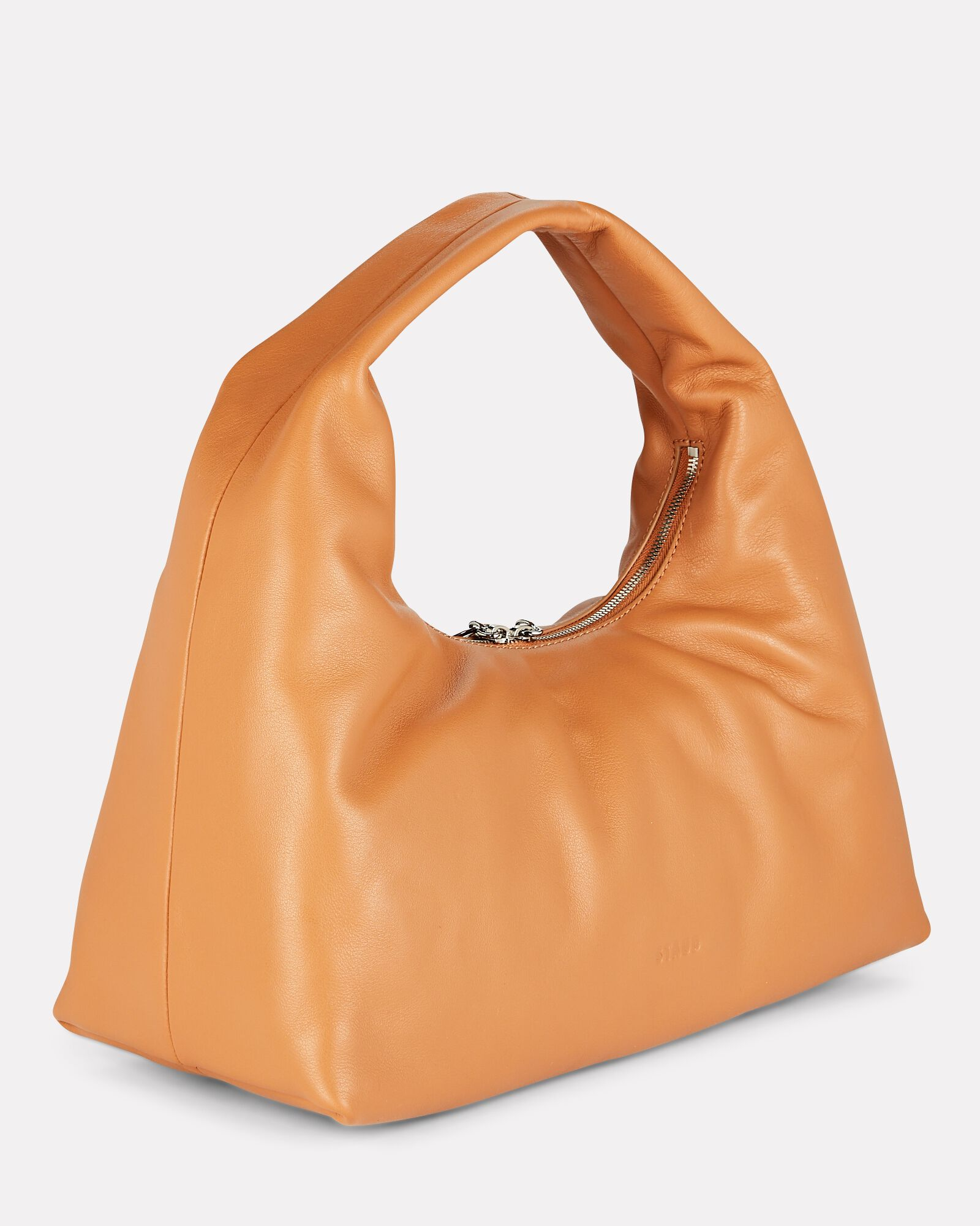 Enzo Slouch Leather Bag, BROWN, hi-res