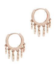 Disc Shaker Mini Hoop Earrings, METALLIC, hi-res