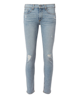 Ankle Distressed Skinny Jeans, DENIM-LT, hi-res