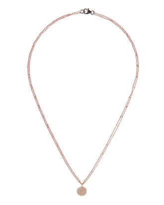 Coin Diamond Necklace, ROSE, hi-res