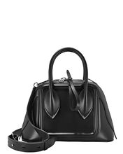 Pinter Leather Bowling Bag, BLACK, hi-res