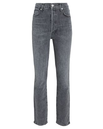 Olivia Slim Straight-Leg Jeans, GREY, hi-res