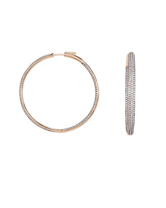Statement Hoop Earrings, LIGHT LILAC/ROSE GOLD, hi-res
