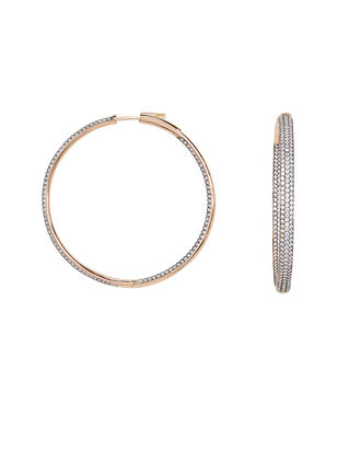 Statement Crystal Hoops, ROSE GOLD, hi-res