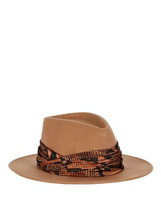 Blaine Wool Fedora, BROWN, hi-res