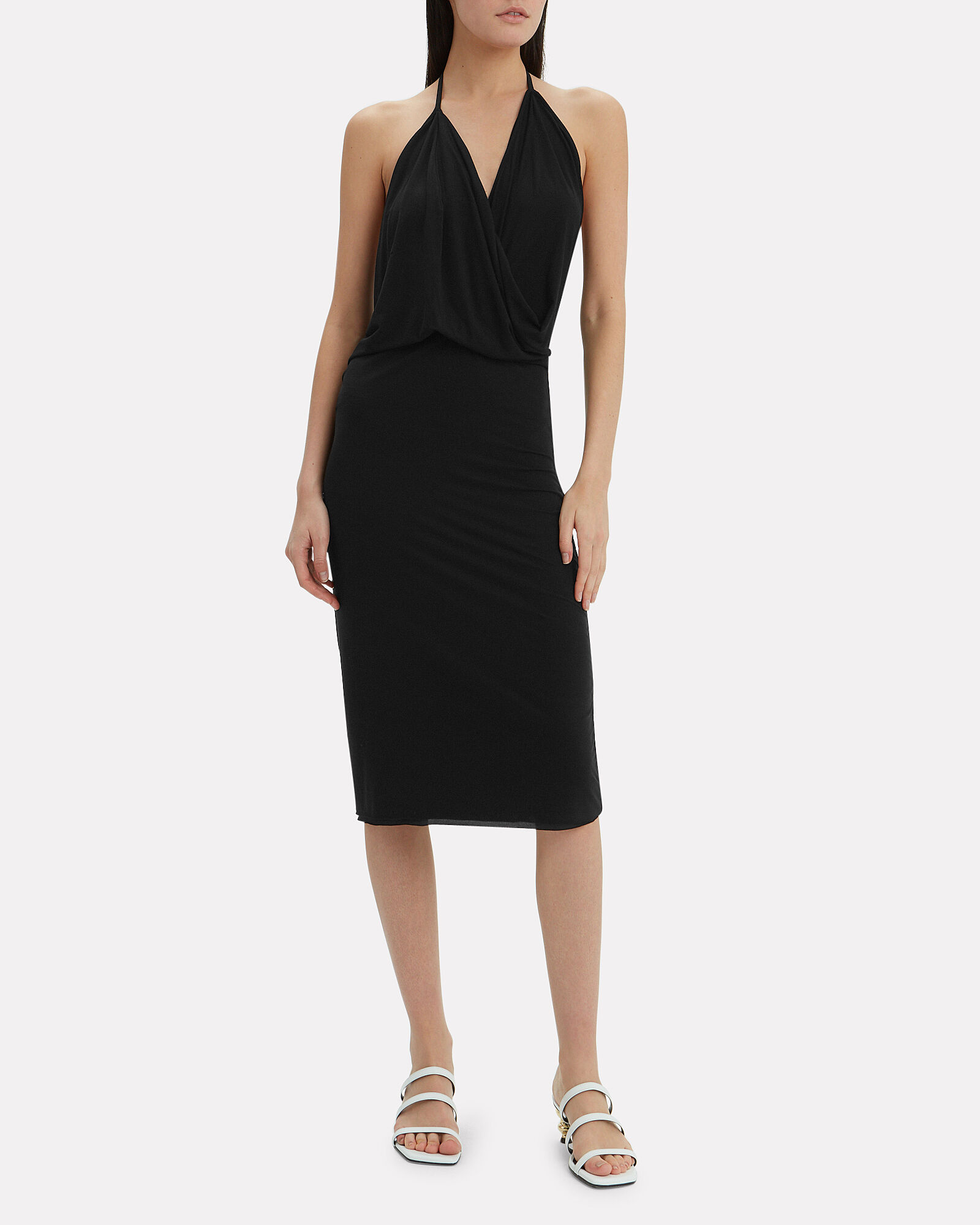 Halter Dress, BLACK, hi-res