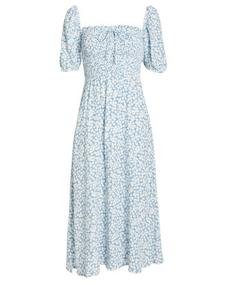Majorelle Floral Smocked Dress, BLUE/FLORAL, hi-res