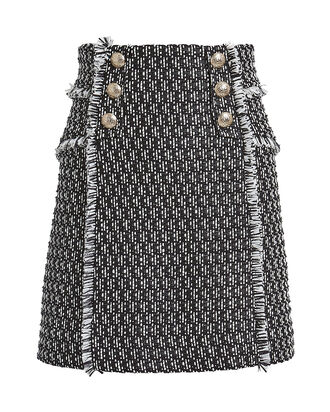 Martina Tweed Mini Skirt, BLACK/WHITE, hi-res