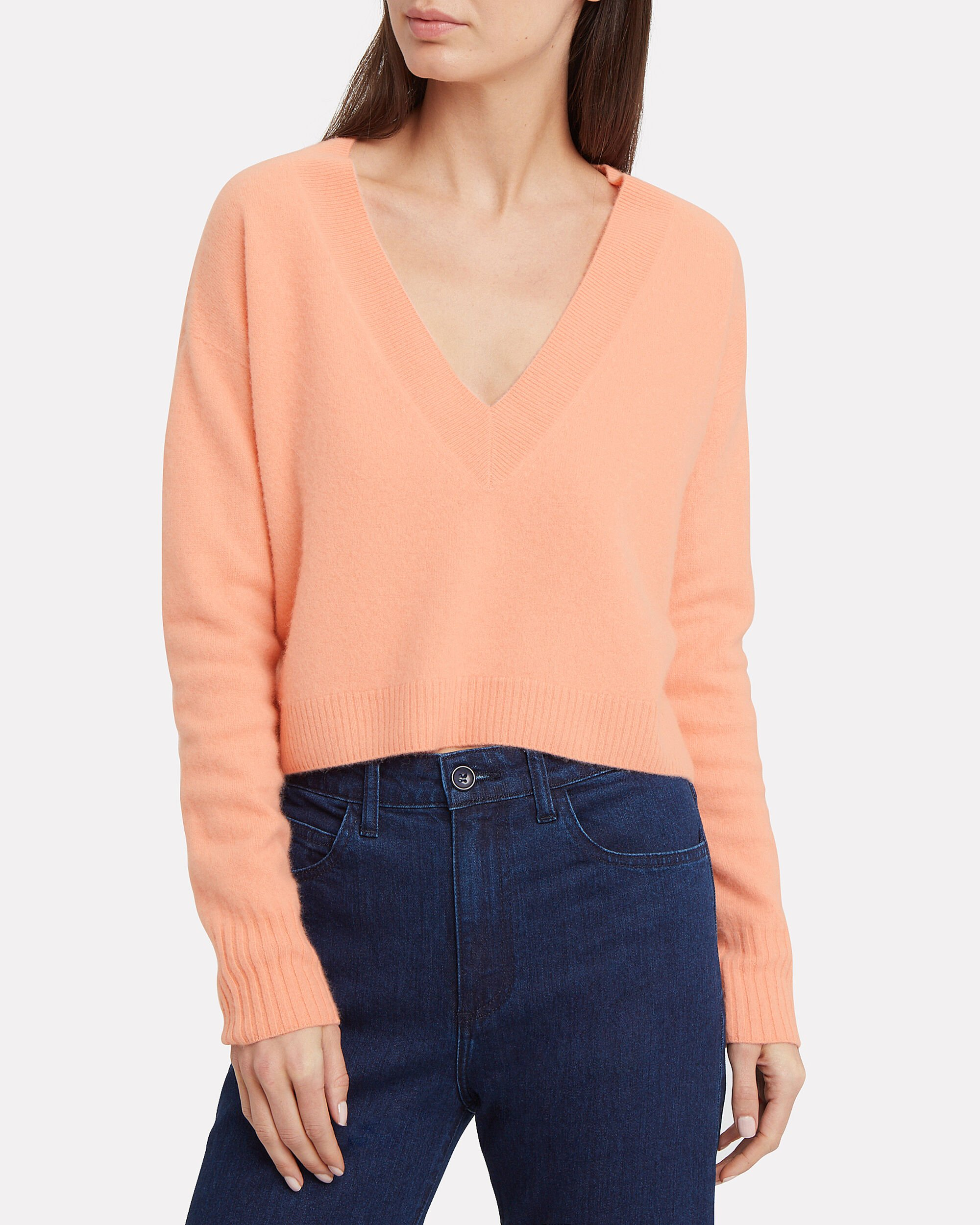 Elroy Cashmere Sweater, CORAL, hi-res
