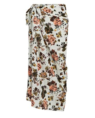 Paz Floral Pareo Skirt, WHITE/PINK, hi-res