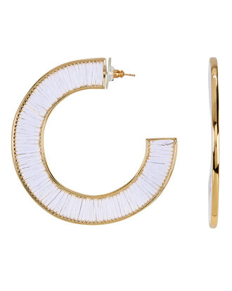 Fiona White Hoops, WHITE/GOLD, hi-res