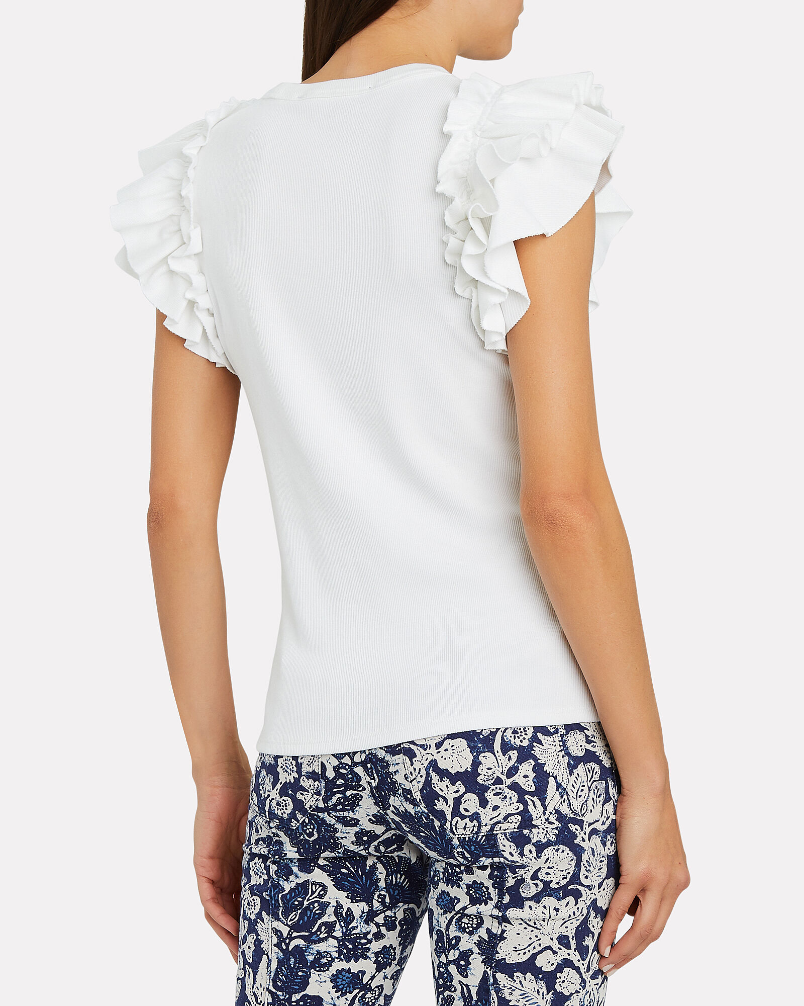 Biscay Ruffled Knit Top, IVORY, hi-res