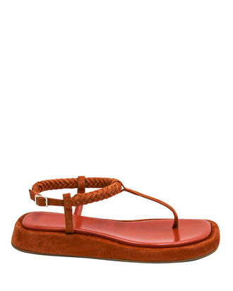 x RHW 3 Suede Thong Sandals, ORANGE, hi-res
