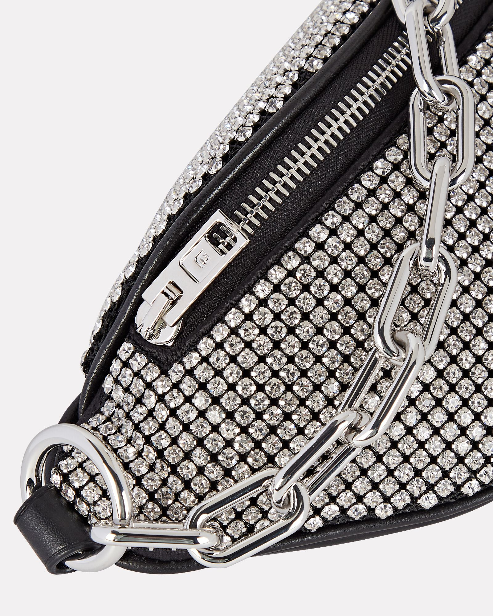 Mini Attica Rhinestone Crossbody Bag, WHITE, hi-res