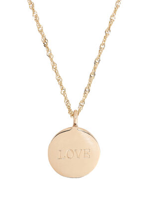 Demi Medallion Signet Necklace, GOLD, hi-res