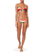 Morgan Paradise Stripe Triangle Bikini Top, PATTERN, hi-res