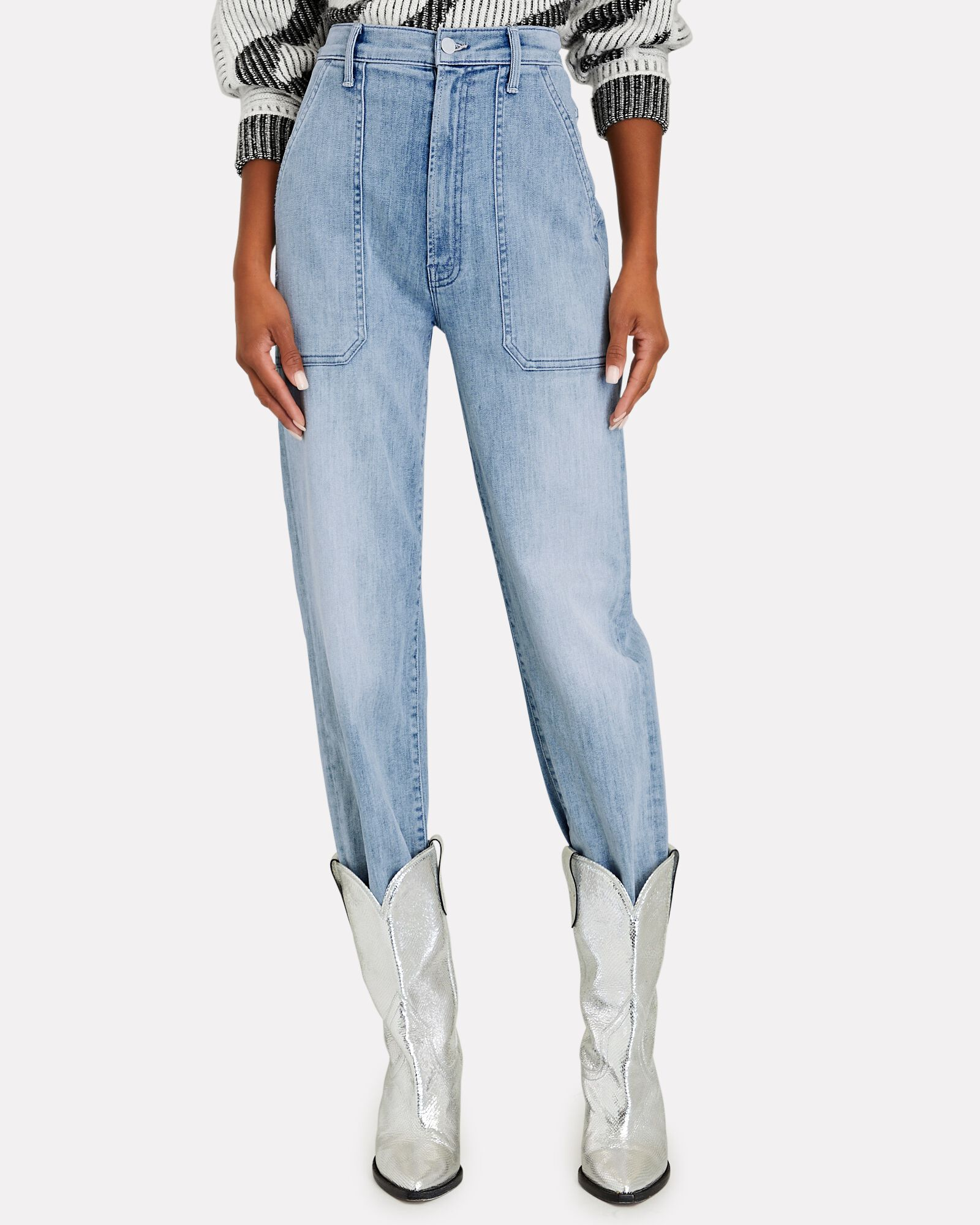 The Wrapper High-Rise Jeans, KNOCK ON WOOD, hi-res