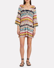 Rainbow Chevron Knit Kaftan, RAINBOW WAVE, hi-res