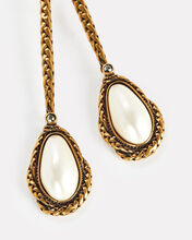 Stone Drop Earrings, WHITE, hi-res