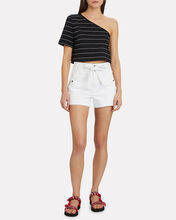 Le Brigette Denim Shorts, WHITE, hi-res