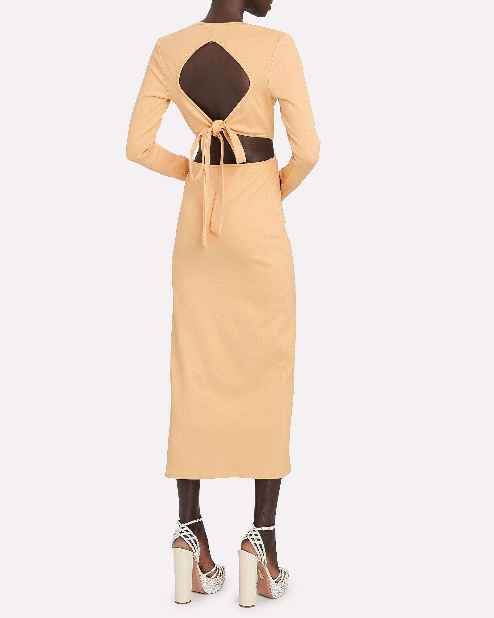Unloving You Open Back Midi Dress, ORANGE, hi-res