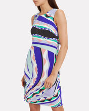 Rivera Mini Shift Dress, BLUE/PURPLE ABSTRACT, hi-res