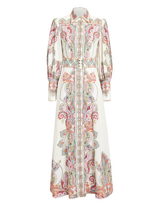 Ninety-Six Paisley Maxi Dress, WHITE/PAISLEY PRINT, hi-res
