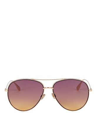DiorSociety Aviator Sunglasses, GOLD, hi-res