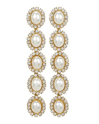 Von Drop Pearl Earrings, WHITE, hi-res