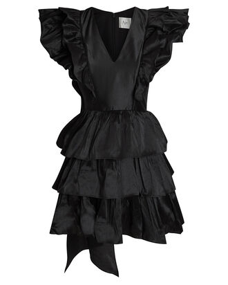 Allégro Bon Bon Ruffle Mini Dress, BLACK, hi-res