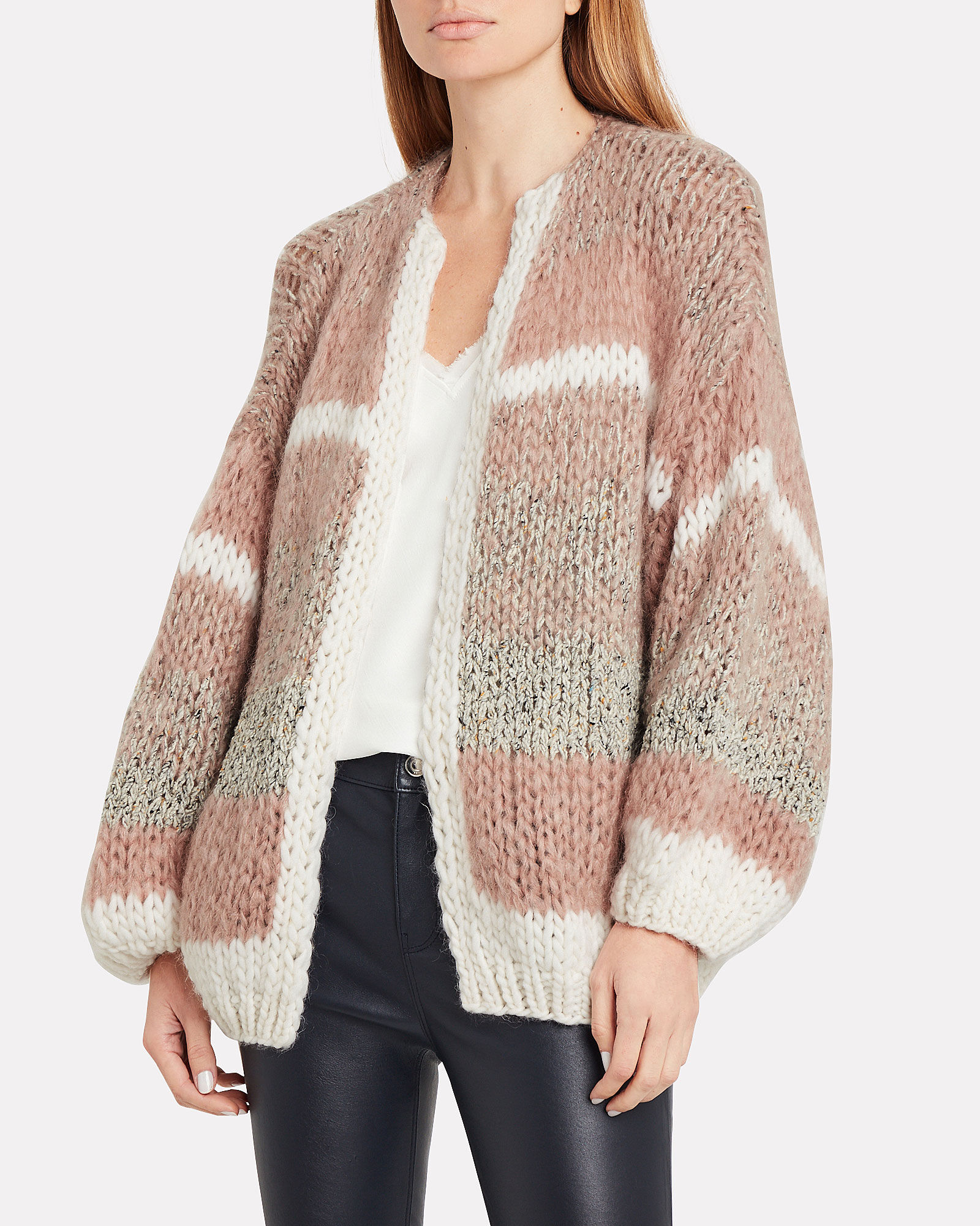 Tweed Melange Big Cardigan, MULTI, hi-res