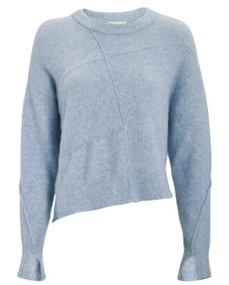 Lofty Basket Weave Sweater, PERIWINKLE, hi-res