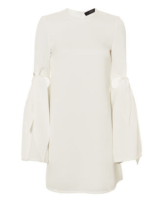 Thelma Tie Sleeve Mini Dress, WHITE, hi-res
