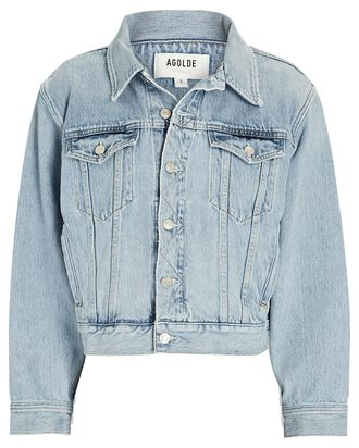 Blanca Elasticated Denim Jacket, BURST, hi-res