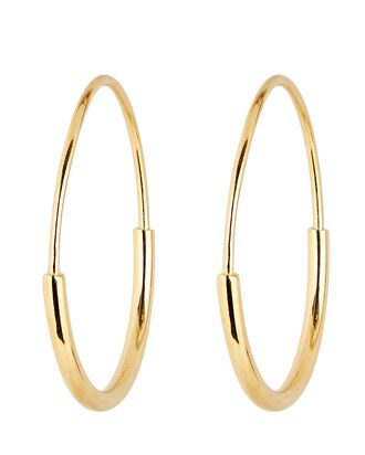 Delicate 22 Hoop Earrings, GOLD, hi-res