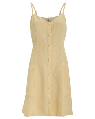 Aurora Button Front Dress, CANARY YELLOW, hi-res