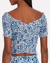 Camilla Smocked Floral Crop Top, MULTI, hi-res