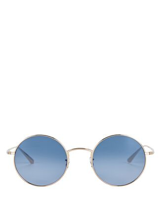 After Midnight Round Sunglasses, BLUE, hi-res