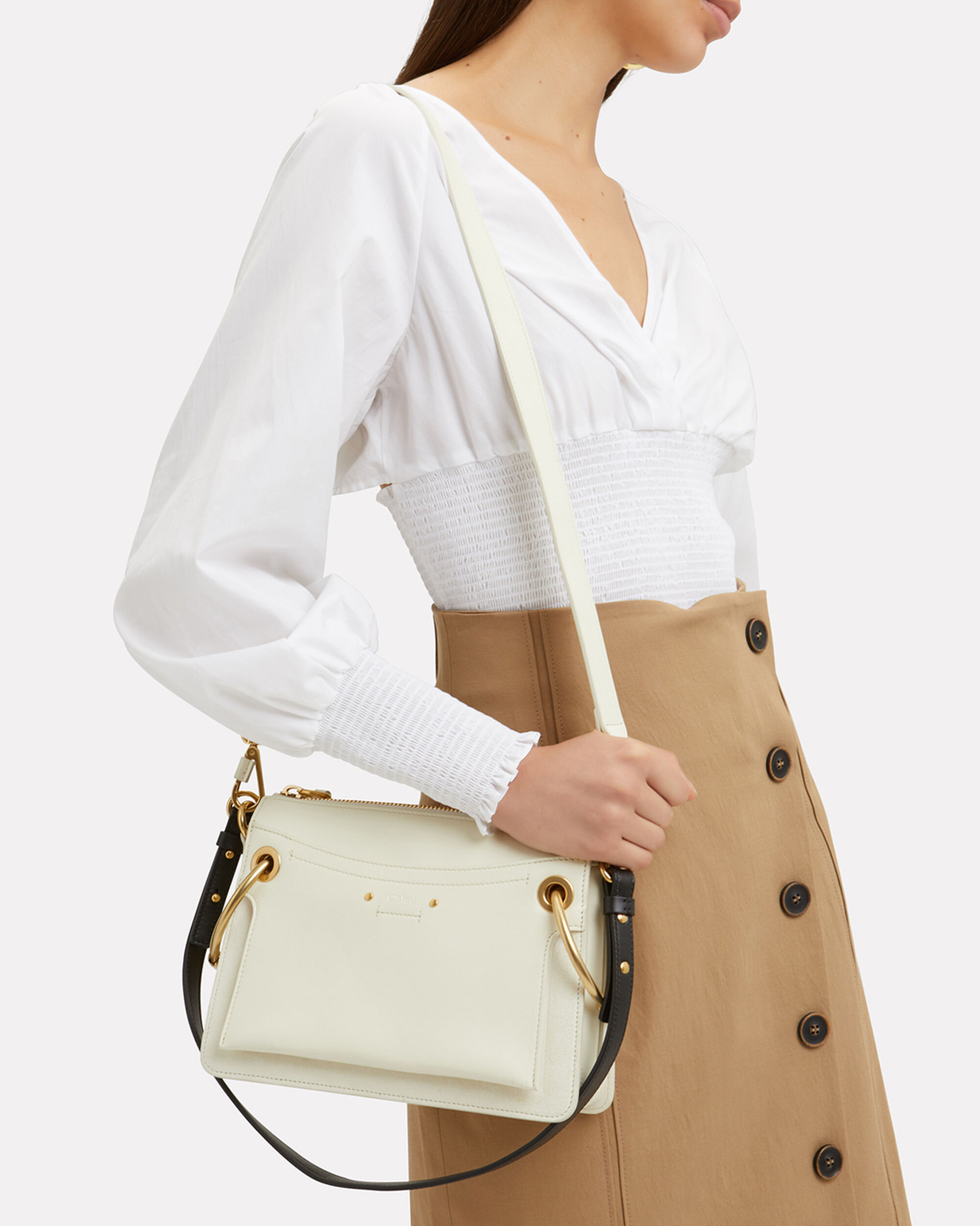 Roy Double Strap Crossbody Bag, WHITE, hi-res