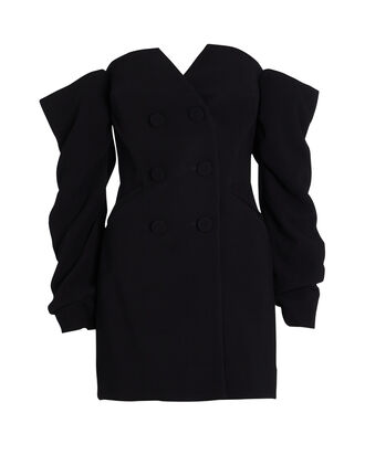 Perkins Crepe Blazer Dress, BLACK, hi-res