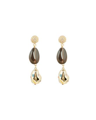 Evolution Pearl Drop Earrings, GOLD, hi-res