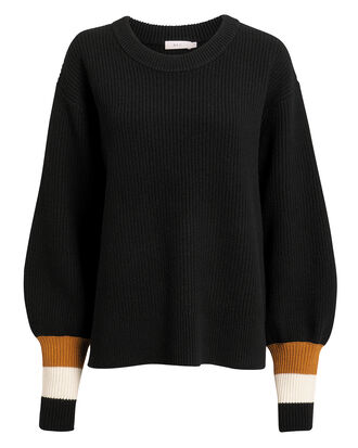 Jasper Sweater, BLACK/STRIPE, hi-res