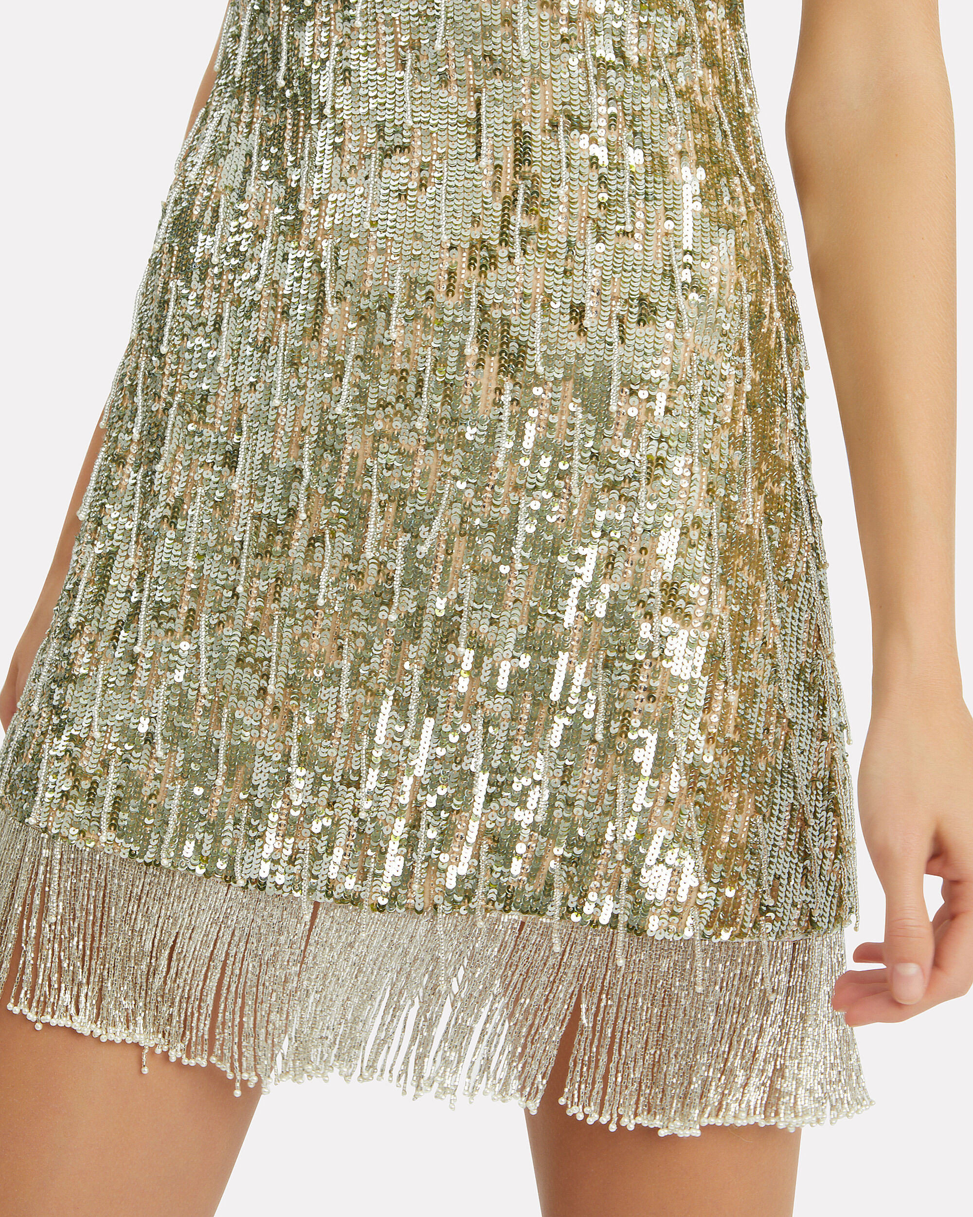 Izabell Sequin Mini Dress, SILVER, hi-res