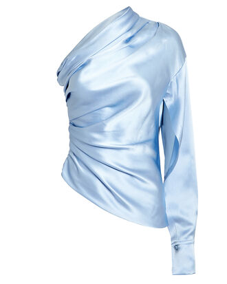 Paley One Shoulder Top, ICE BLUE, hi-res