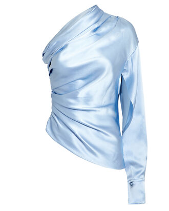 Paley One Shoulder Top, BLUE-LT, hi-res
