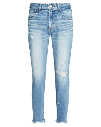 Glendele Distressed Skinny Jeans, LIGHT WASH DENIM, hi-res